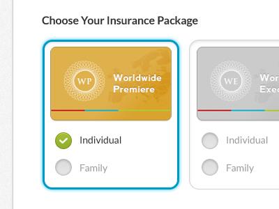 Insurance Package weekend inc package plan option
