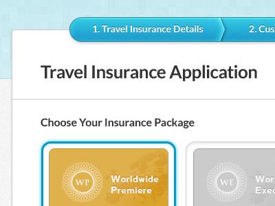 Insurance Package weekend inc package plan option step
