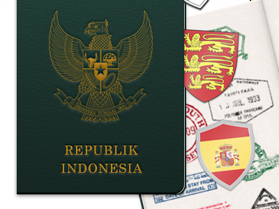 Indonesian Passport  weekend inc illustration badge country world
