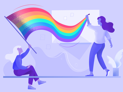 Why we need LGBT lessons in schools illustration colourful colours peace love rainbow board education lgbt pride month pride