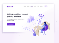 Publisher Landing Page Illustration for the new Kortext website