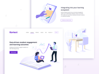 Kortext website UI - Educators
