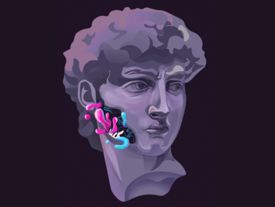 David procreate surreal surrealism michelangelo davidstatue david statue illustrator vector digitalillustration illustration