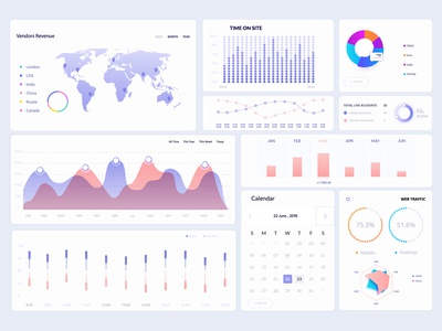Dashboard UI Elements typography dashboard template charts concept design ui kit simple website web elements dashboard ui