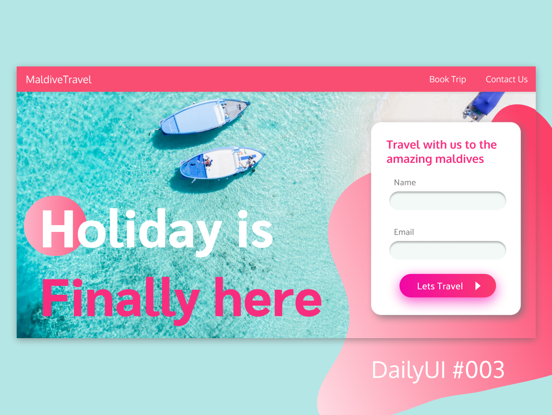 DailyUI Challenge #003 - LandingPage dailyui 003 web vector ui design dailyui
