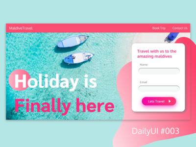 DailyUI Challenge #003 - LandingPage