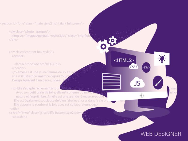 WEB DESIGNER by Amélie Delaporte on Dribbble