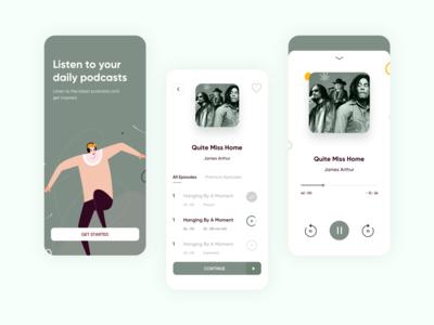 Podcasts - Mobile App podcasts illustration app design ux ux design uiux interface ui ui deisgn