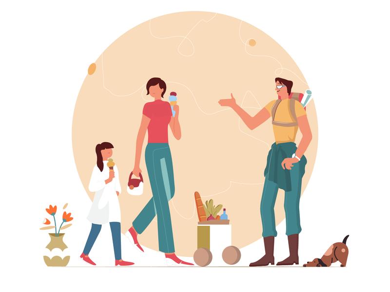 Summer Illustration vector flat character illustration design