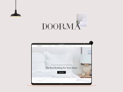 Doorma_Website bedding and linen bedding app website design web ux uiux interface design ui ux design ui deisgn