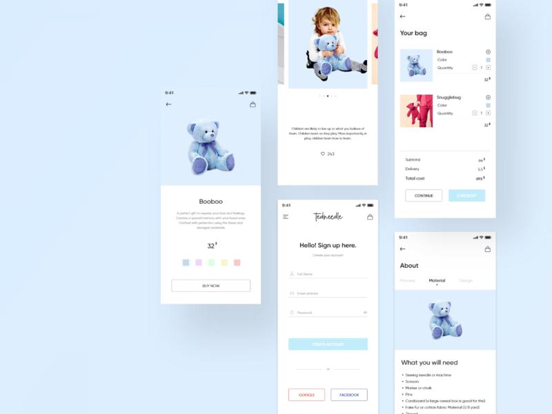 Tednidddle toys mobile app kids app ux uiux interface design ui ux design ui deisgn