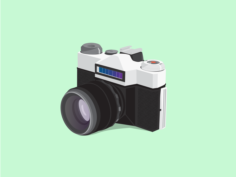 Camera Vector Design vector graphic art digital 3d digital design illustration vector art