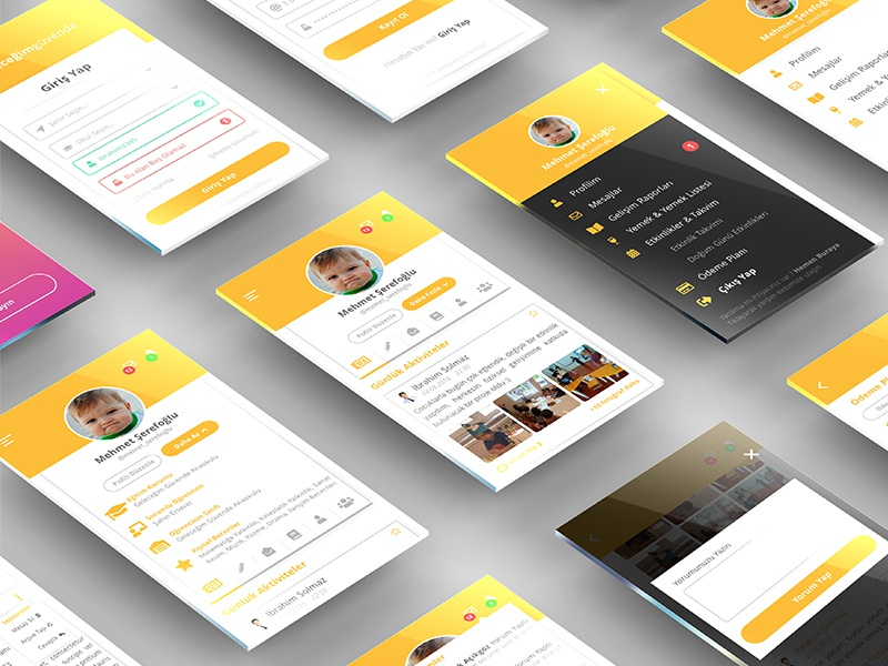 Mobile App Design For Parents android app modern design ios app clean design mobile app mobile