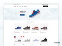 Sneaker e-commerce web site. Ui/Ux