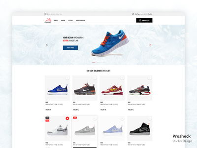 Sneaker e-commerce web site. Ui/Ux e-commerce ux ui shoes sneaker