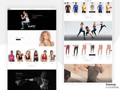 Sportswear e-commerce web site. Home page. UI/UX Design website ux uiux ui home page product design e-commerce clean design