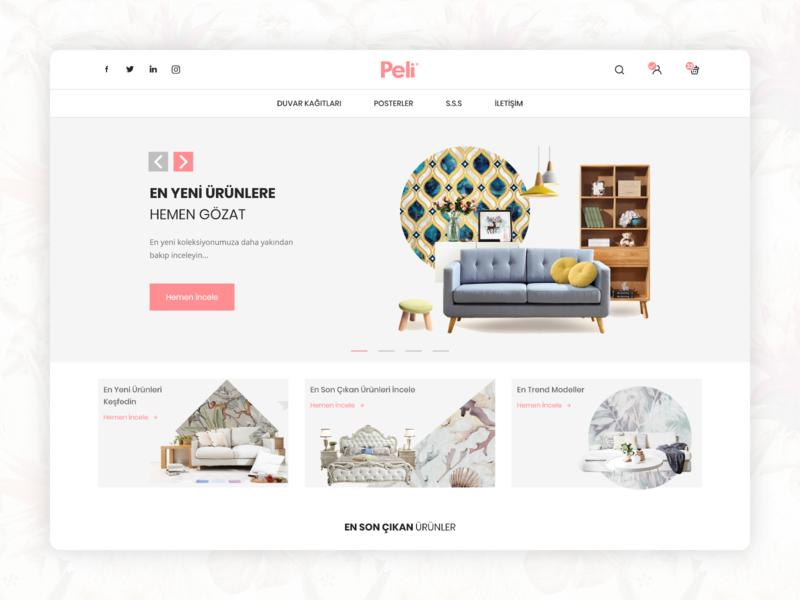 Wallpaper E-Commerce Web Site Home Page - UI/UX wallpaper responsive clean design uiux ui ux e-commerce