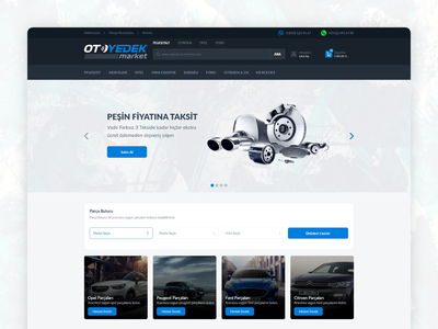 Car Parts E-commerce Web Site Homepage  - UI/UX homepage car part car responsive clean design uiux ui ux e-commerce
