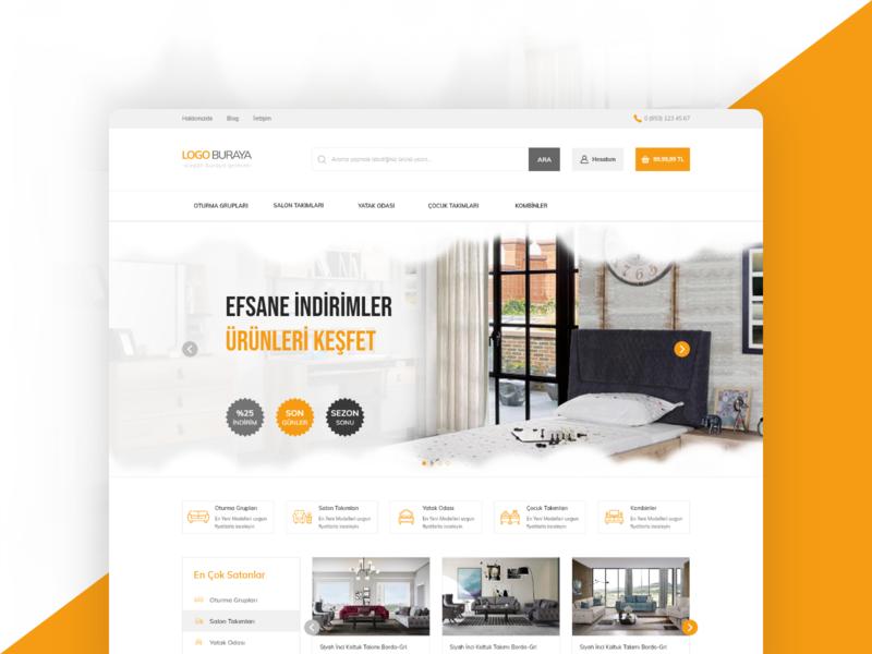 Furniture company E-commerce design ux uiux ui responsive furniture design furniture e-commerce