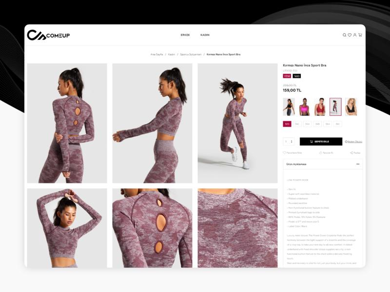 Sportswear e-commerce web site. Ui/Ux website ux uiux ui product page product design e-commerce design clean design
