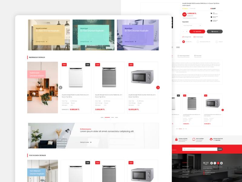Home Decoration E-Commerce - UI/UX ui  ux ux ui design clean responsive ecommerce e-commerce hoem decoration home