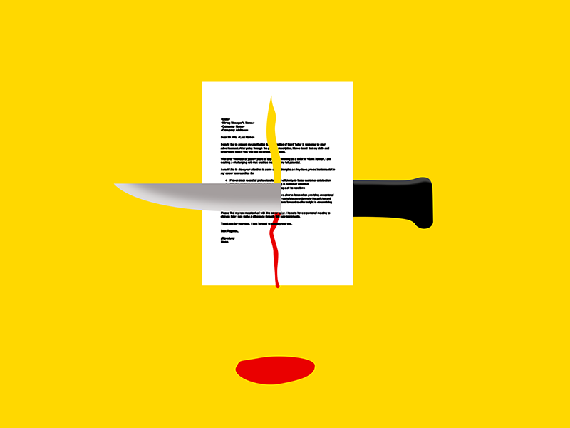How To Kill Your Cover Letter by Ashley Siebels on Dribbble
