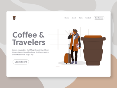 Coffee and Travelers - illustration - Website