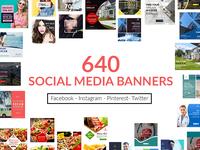640+ Social Media banners