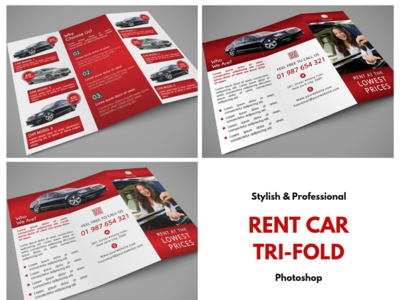 Rent Car Trifold