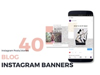 Blog instagram posts & stories templates