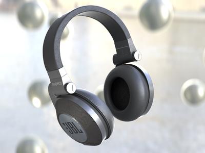 JBL Headphones debuts debut grading compositing jbl nukex substance painter texturing lighting rendering headphones 3dmodelling