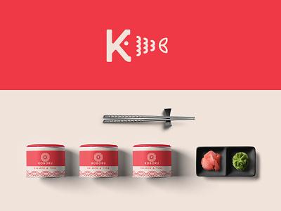 sushi  logo design - packaging organic app minimalistic packaging fish restaurant food sushi logos brand design modern minimal logo branding