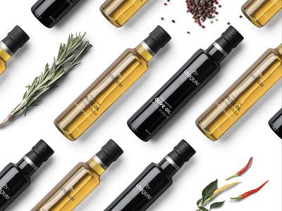 Branding  packaging premium extra virgin olive oil brand bottle bottle oil olive corporate packaging label minimal design identity logo brand modern branding