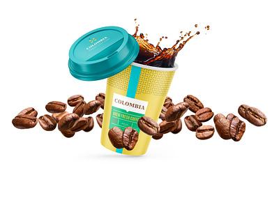 Coffee Branding | Nordic Blend colorful tea food packaging coffee identity logos minimal modern brand logo branding