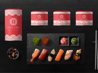 Geometric Logo Sushi Design Template Vector