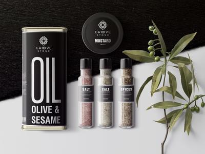 Geometric Olive Oil logo
