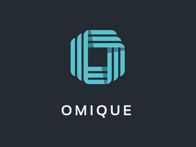 O Letter Logo Stripe Geometric