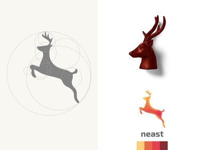Neast Logo nature clean company corporate design modern mark business vector logotype identity brand logo logos branding animal deer clothes outdoor flat
