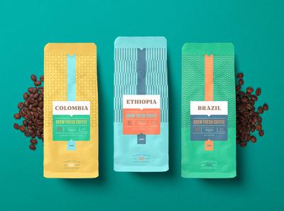 Coffee packaging design - Nordic Blend Roastery