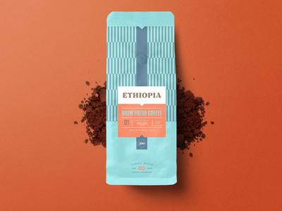 COFFEE BAG PACKAGING DESIGN  - ETHIOPIA BLEND
