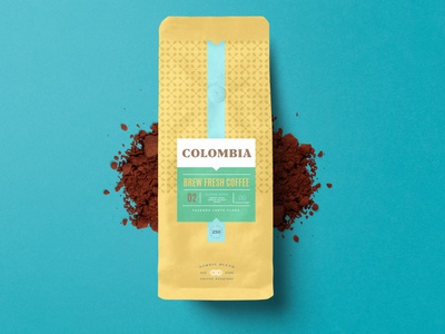 COFFEE BAG PACKAGING DESIGN COLOMBIA