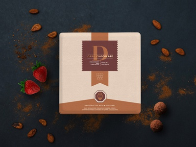 Chocolate packaging product cocoa design clean brand branding design box package candy food packaging chocolate modern minimal logo branding