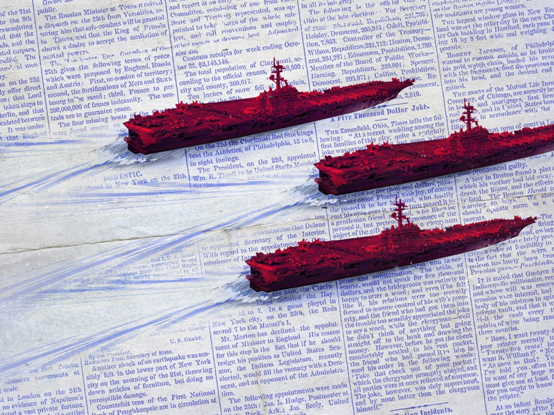 The agression is real... sea habana against communication press military collages ships aggresive 2019 politics dominiocuba graphicdesign design inspiration illustration cuba