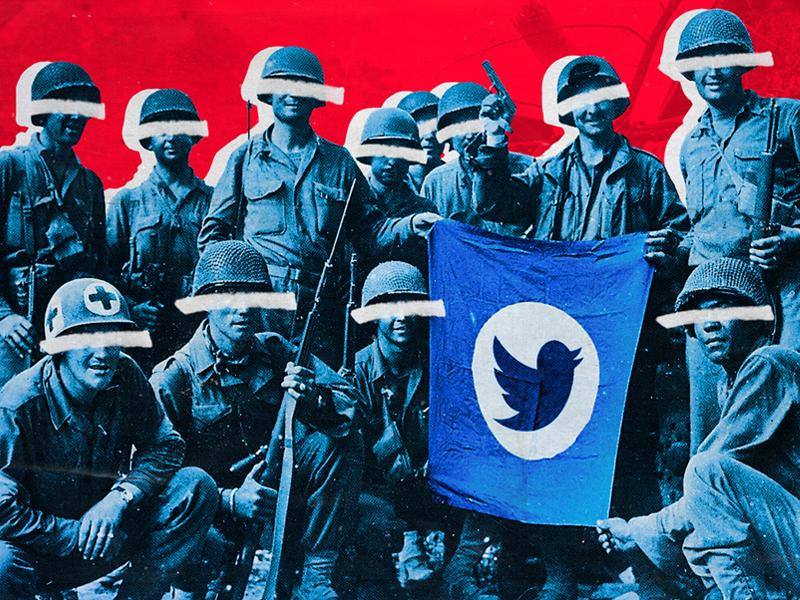Twitter is also a purge tool... prensa squad massmedia communication soldiers press twitter red politics 2019 dominiocuba graphicdesign design inspiration illustration cuba
