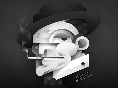 the chairman on the board... blackandwhite vector sinatra music 2019 graphicdesign design inspiration illustration cuba