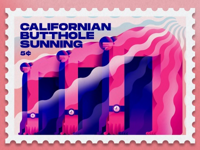 Californian butthole sunning... cuba vector vectorart stamps 2020 graphicdesign design inspiration illustration