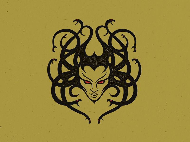 Medusa medusa illustration design