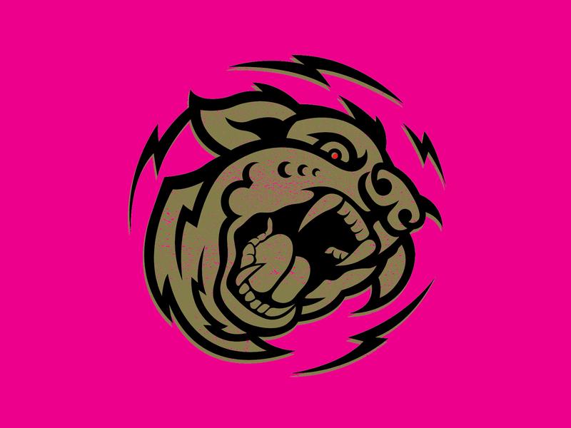 Mad Dog dog vector logo branding design