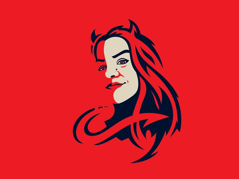 Little Devil illustrator logo illustration devil design