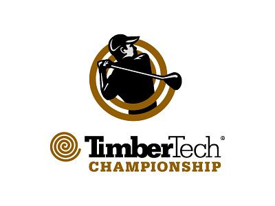 TimberTech Championship Logo golfer branding pga pga tour golf illustrator logo design